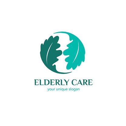 Vector design template. Elderly care icon.