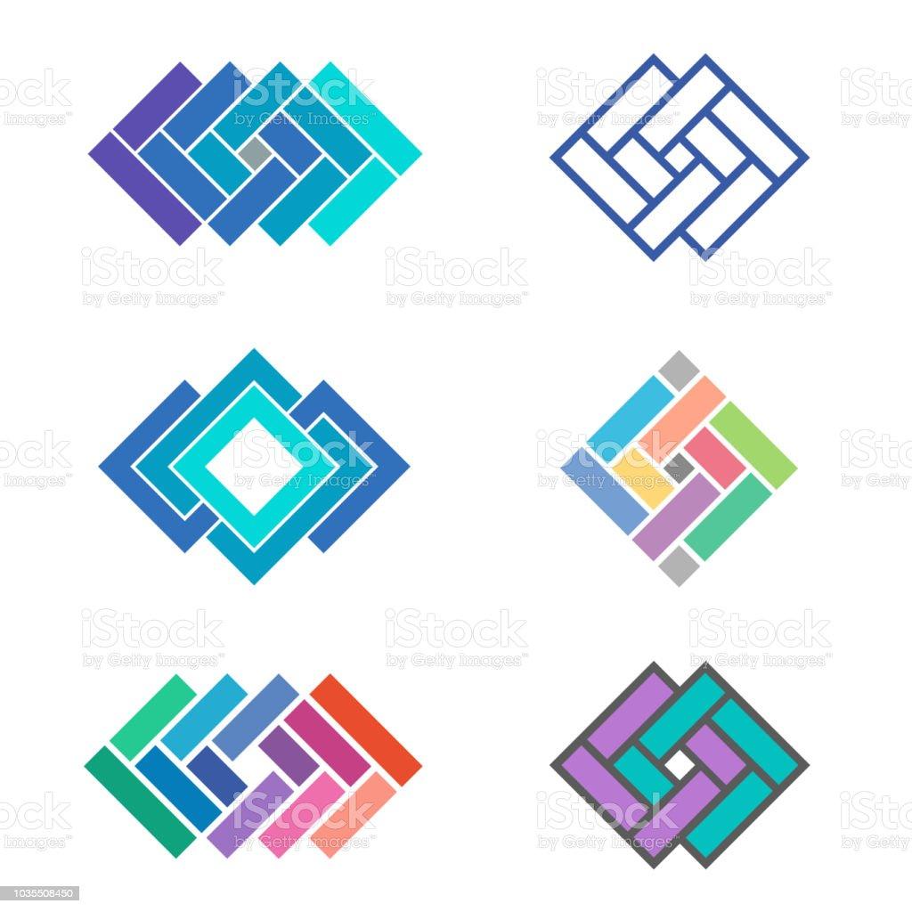 Vector design template elements for tile company vector art illustration