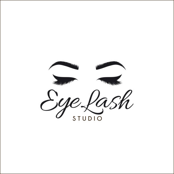 Vector design template for beauty salon. Lash and Brow icon. vector art illustration