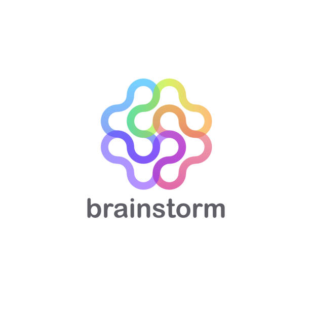 Vector design template for business. Brainstorm abstract icon. vector art illustration