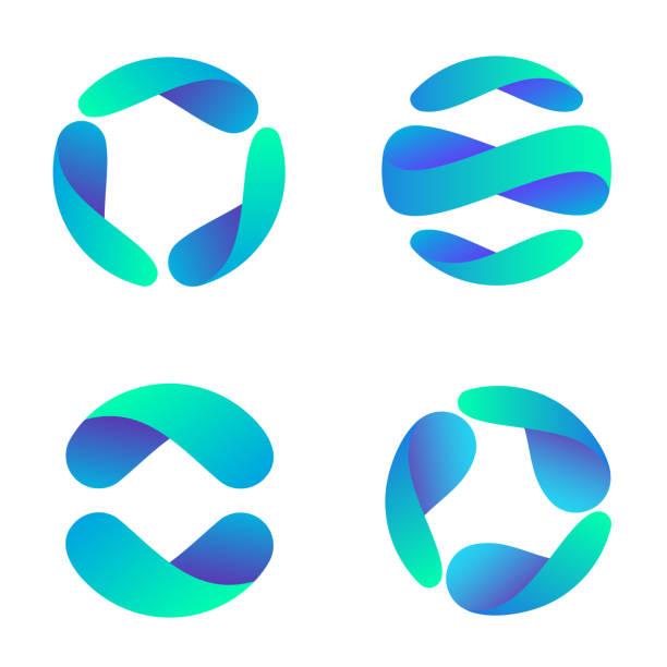 Vector design template for business. Global icon set. vector art illustration