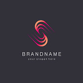 Vector design template for business. S letter sign