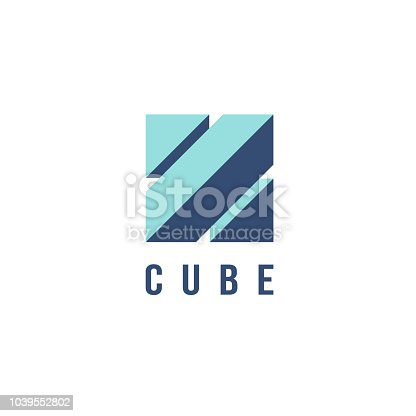 Vector design template for business. Square sign