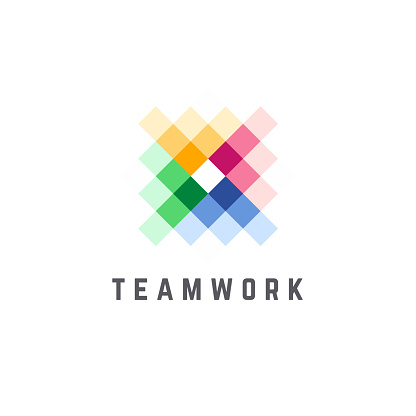 Vector design template for business. Team Work abstract icon.