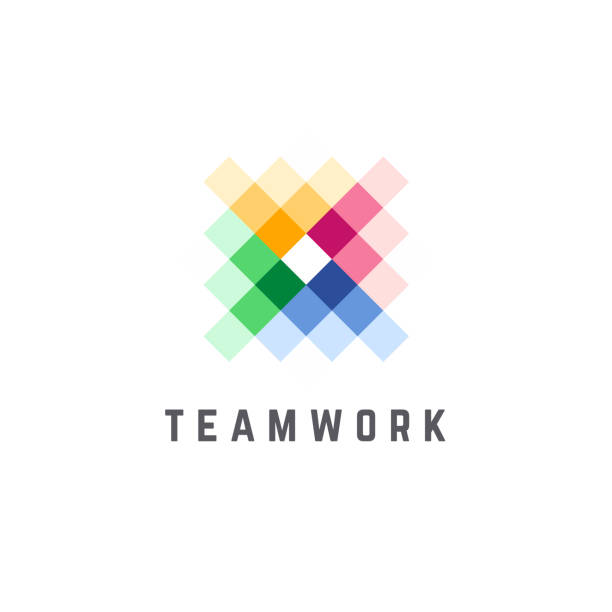 Vector design template for business. Team Work abstract icon. Vector design template for business. Team Work abstract icon. collaboration stock illustrations