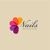 Vector design template for manicure and nail salon.