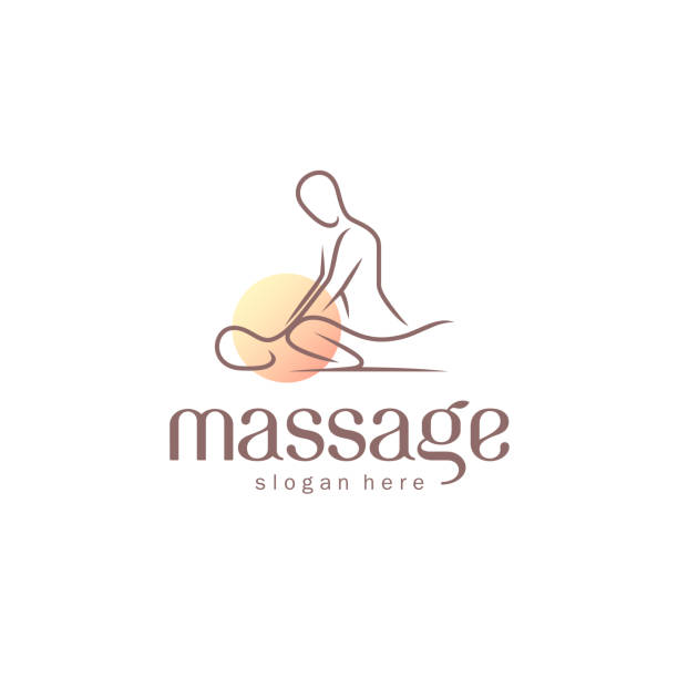 vector design template for massage salon. - massage stock illustrations