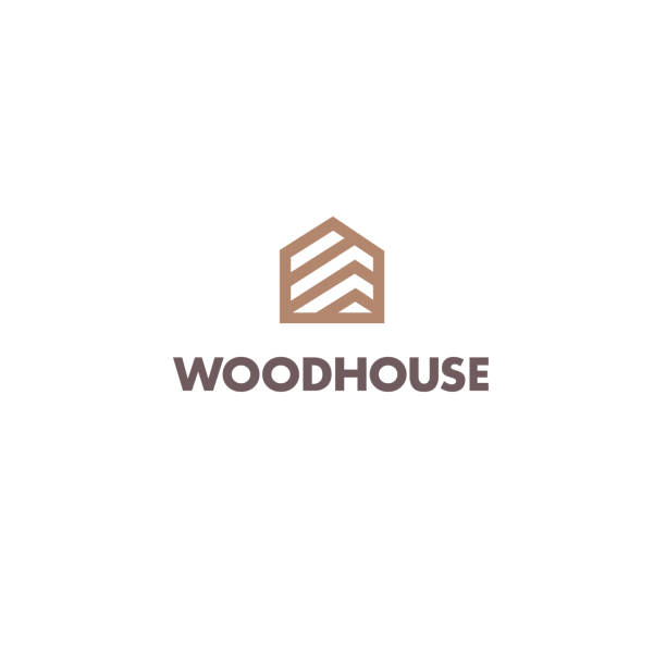 Vector design template for parquet, laminate, flooring. Wood house icon Vector design template for parquet, laminate, flooring. Wood house icon woodland stock illustrations