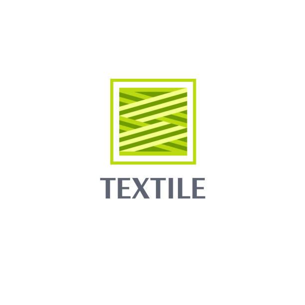 vektor-design-vorlage für shop-stoff, stricken, textil. eco textil-ikone. - wollteppich stock-grafiken, -clipart, -cartoons und -symbole