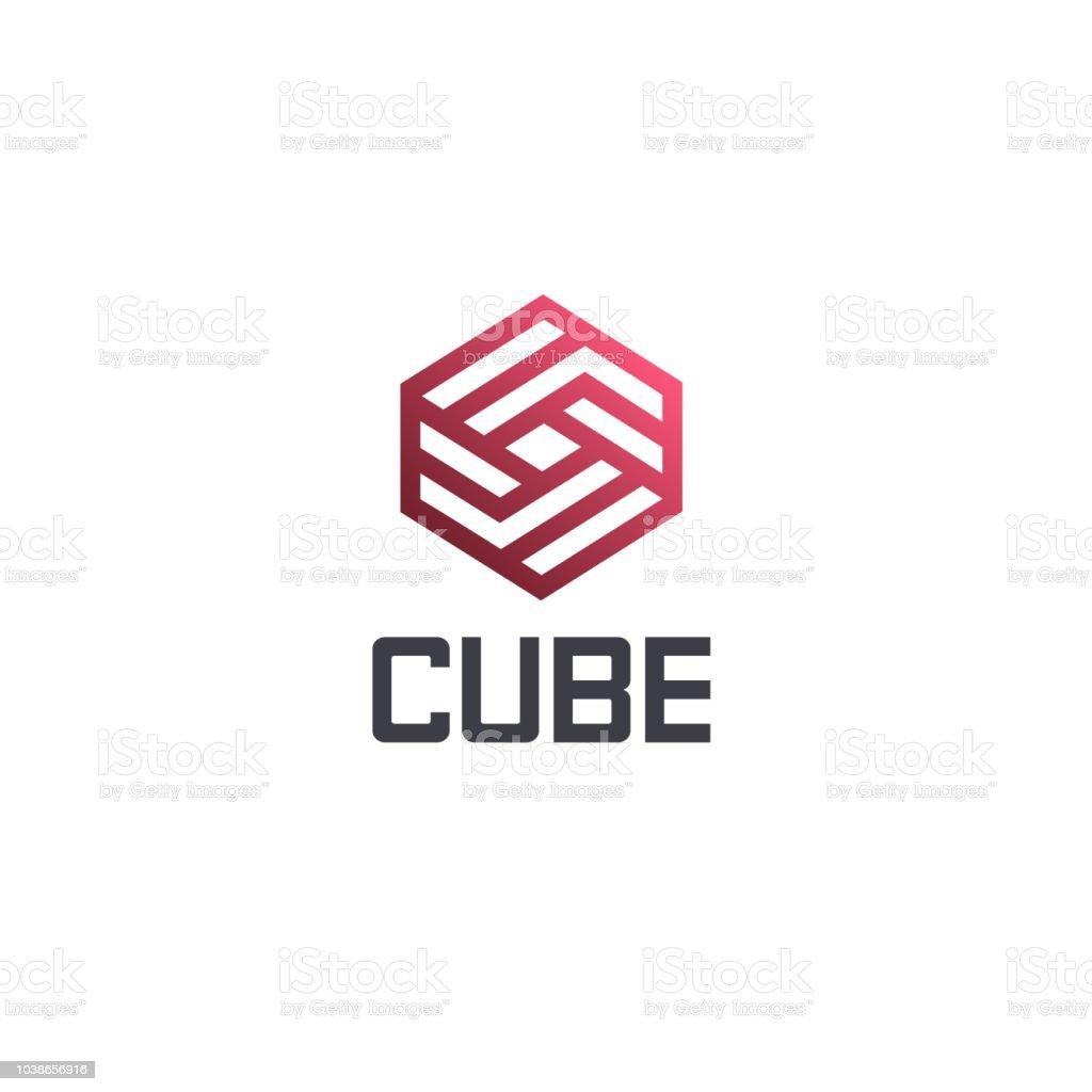 vector design template hexagon design cube sign stock vector art