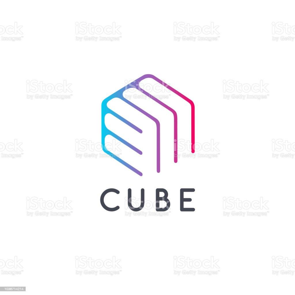 Vector design template hexagon design. Smart box