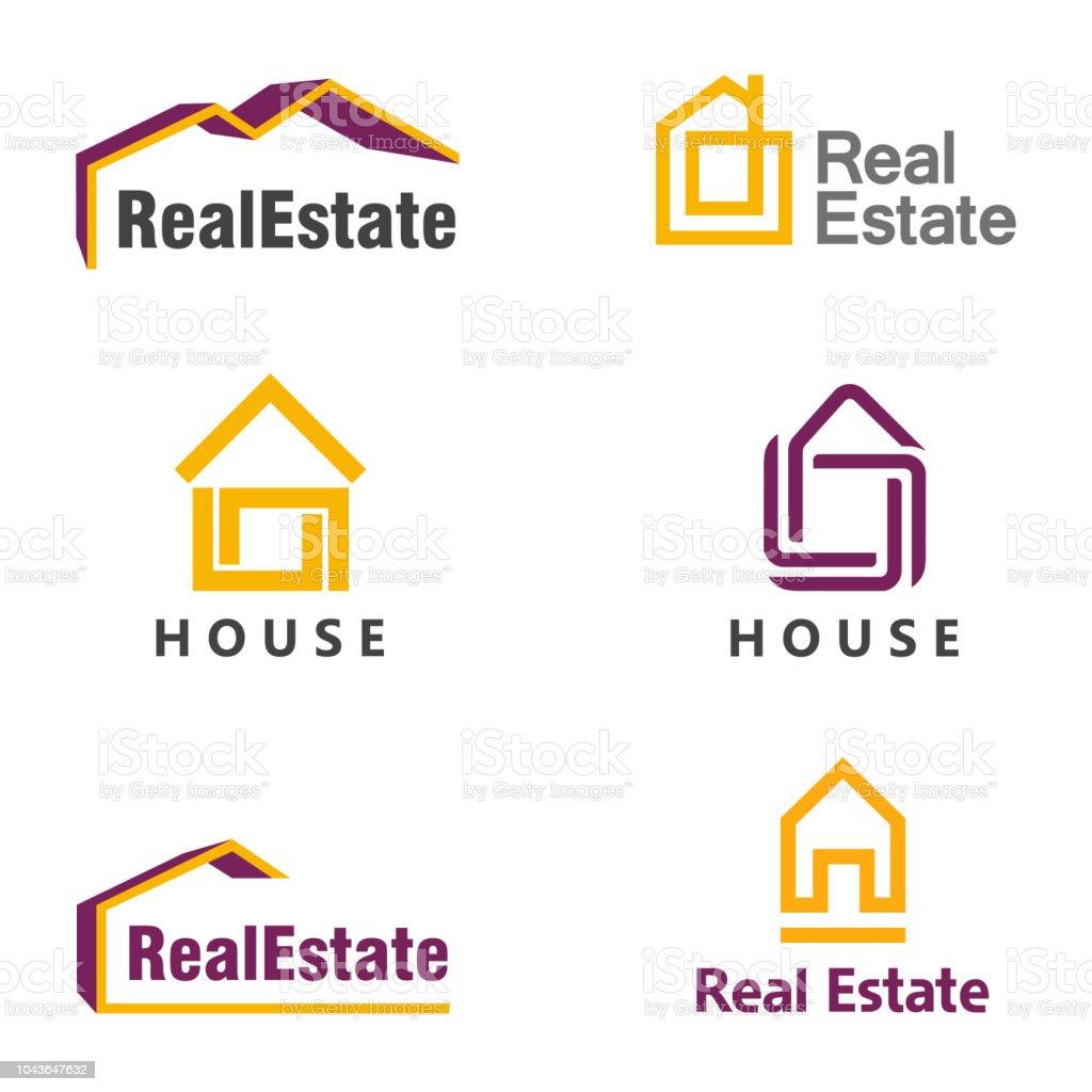Vector design template. House icon. Real estate icon set
