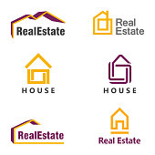 Vector design template. House icon. Real estate icon set