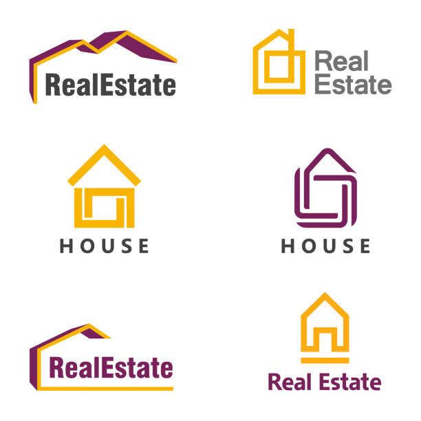 vector design template. house icon. real estate icon set - real estate logos stock illustrations, clip art, cartoons, & icons
