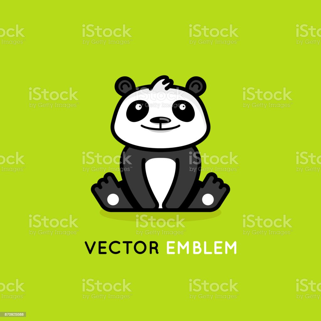 vector design template in cartoon flat linear style little smiling