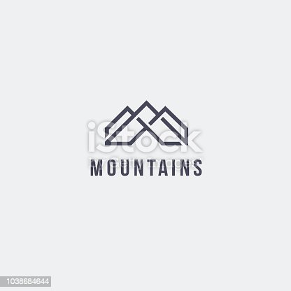 Vector design template. Mountains emblem concept