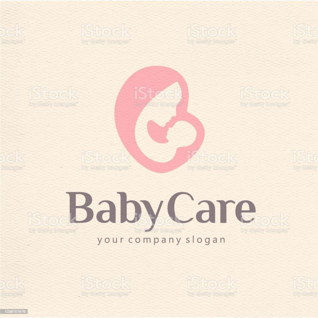 Vector design template of child care, motherhood and childbearing vector art illustration