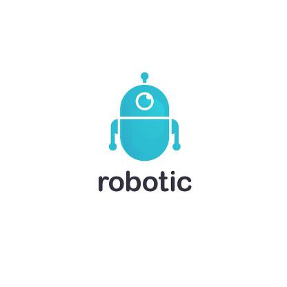Vector design template. Robot icon