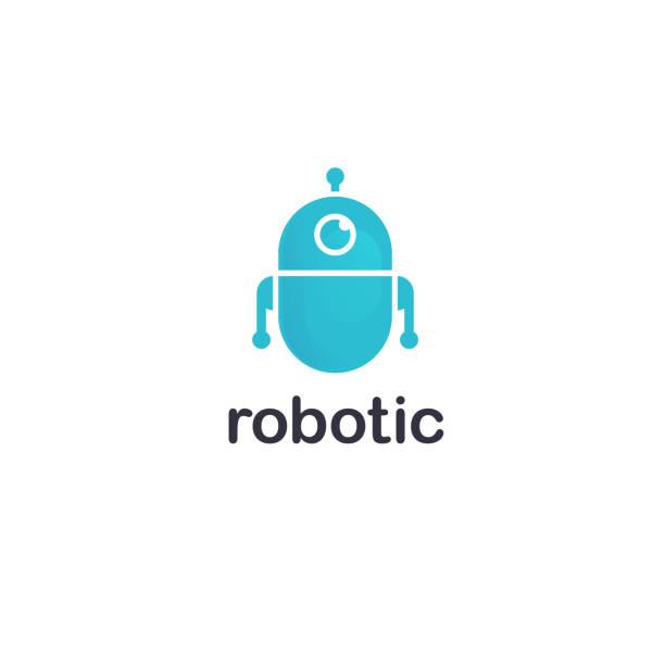 ilustraciones, imágenes clip art, dibujos animados e iconos de stock de plantilla de diseño vectorial. icono de robot - robot