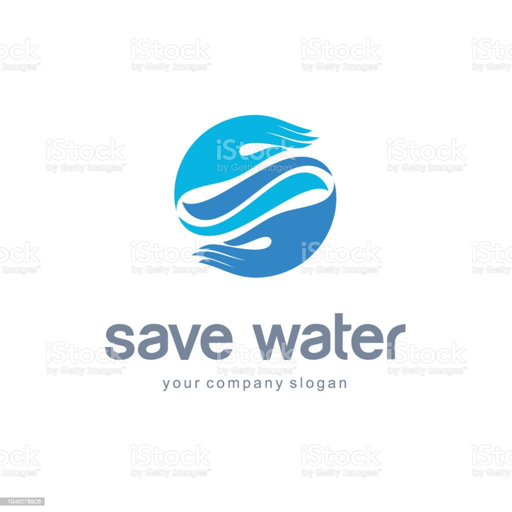 Vector Design Template Save Water Water Abstract Emblem Stock Vector