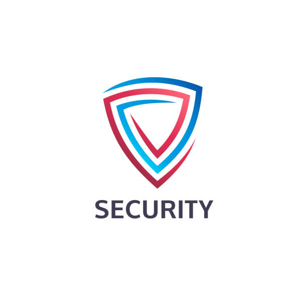 Vector design template. Security and guard icon. vector art illustration