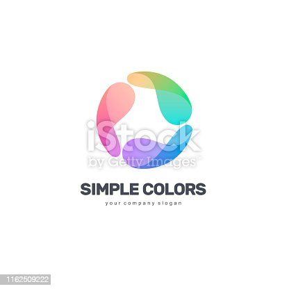 istock Vector design template. Simple colors. Colorful circle. 1162509222
