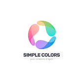 Vector design template. Simple colors. Colorful circle.