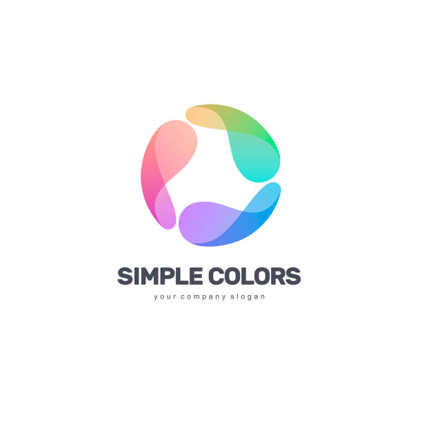 Vector design template. Simple colors. Colorful circle. Vector design template. Simple colors. Colorful circle. logo stock illustrations