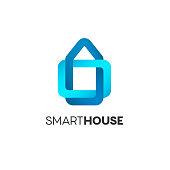 Vector design template. Smart house icon.