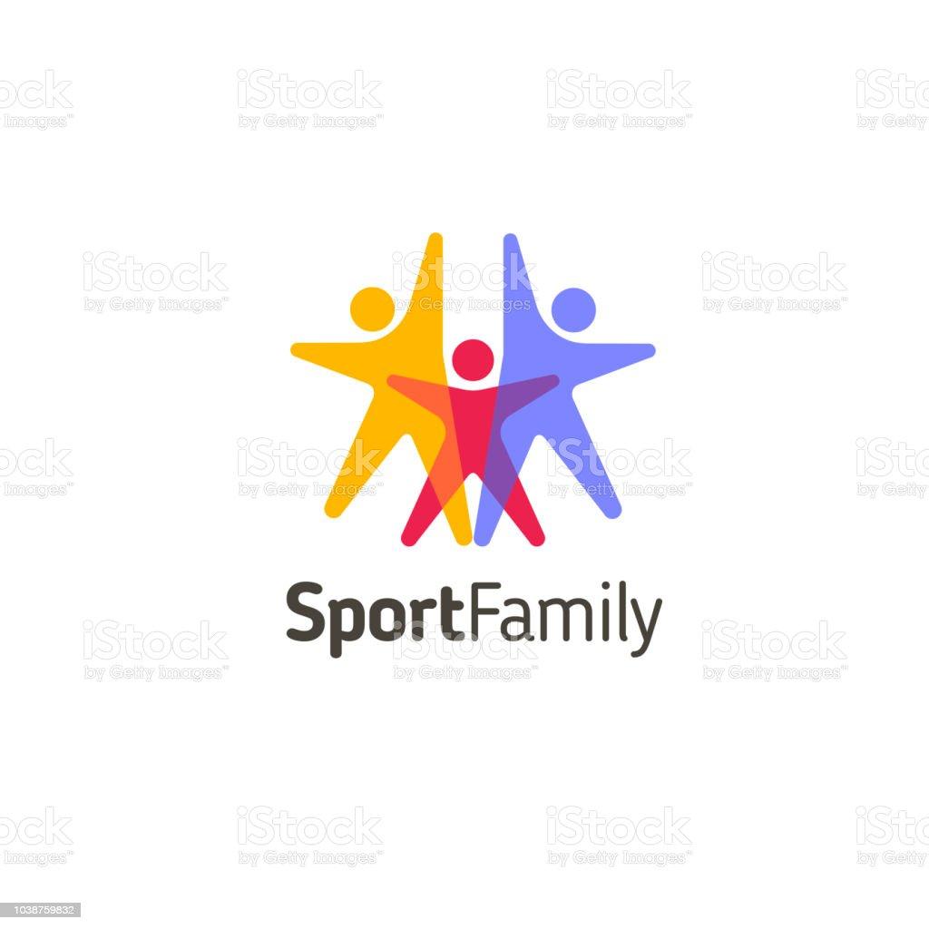 Vector design template. Sport family icon vector art illustration