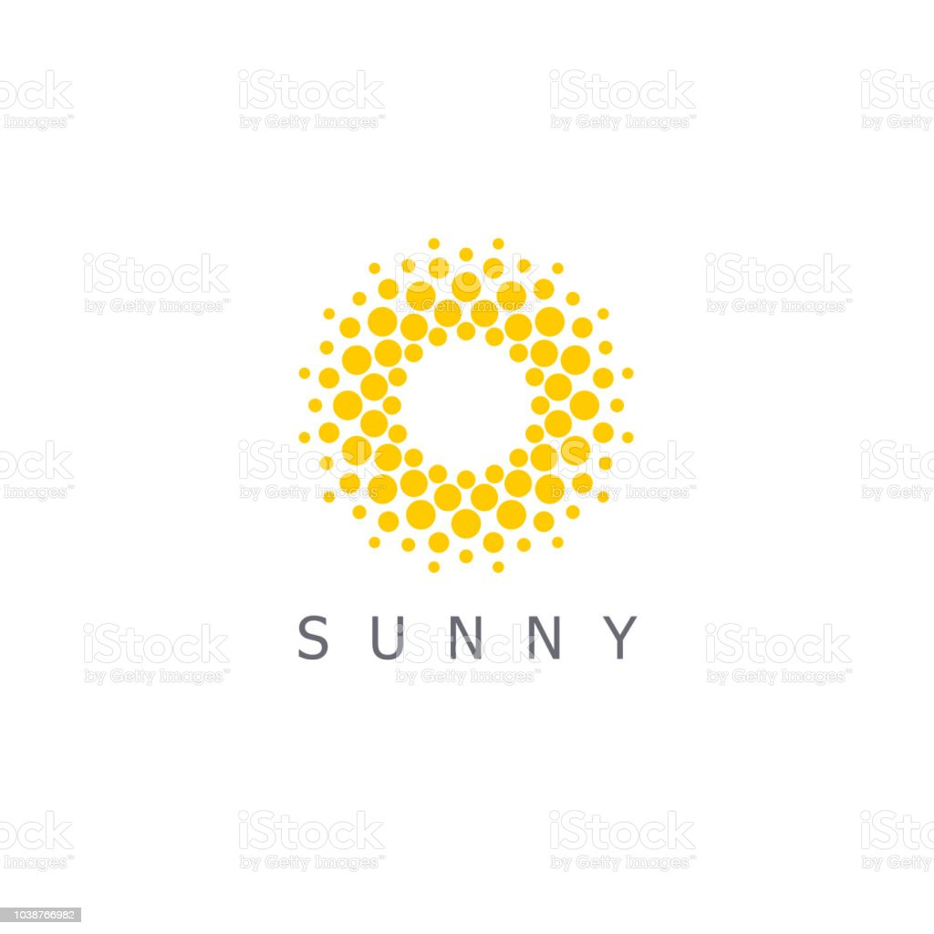 Vector design template. Sun dots icon sign. royalty-free vector design template sun dots icon sign stock illustration - download image now