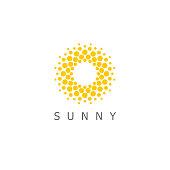 Vector design template. Sun dots icon sign.