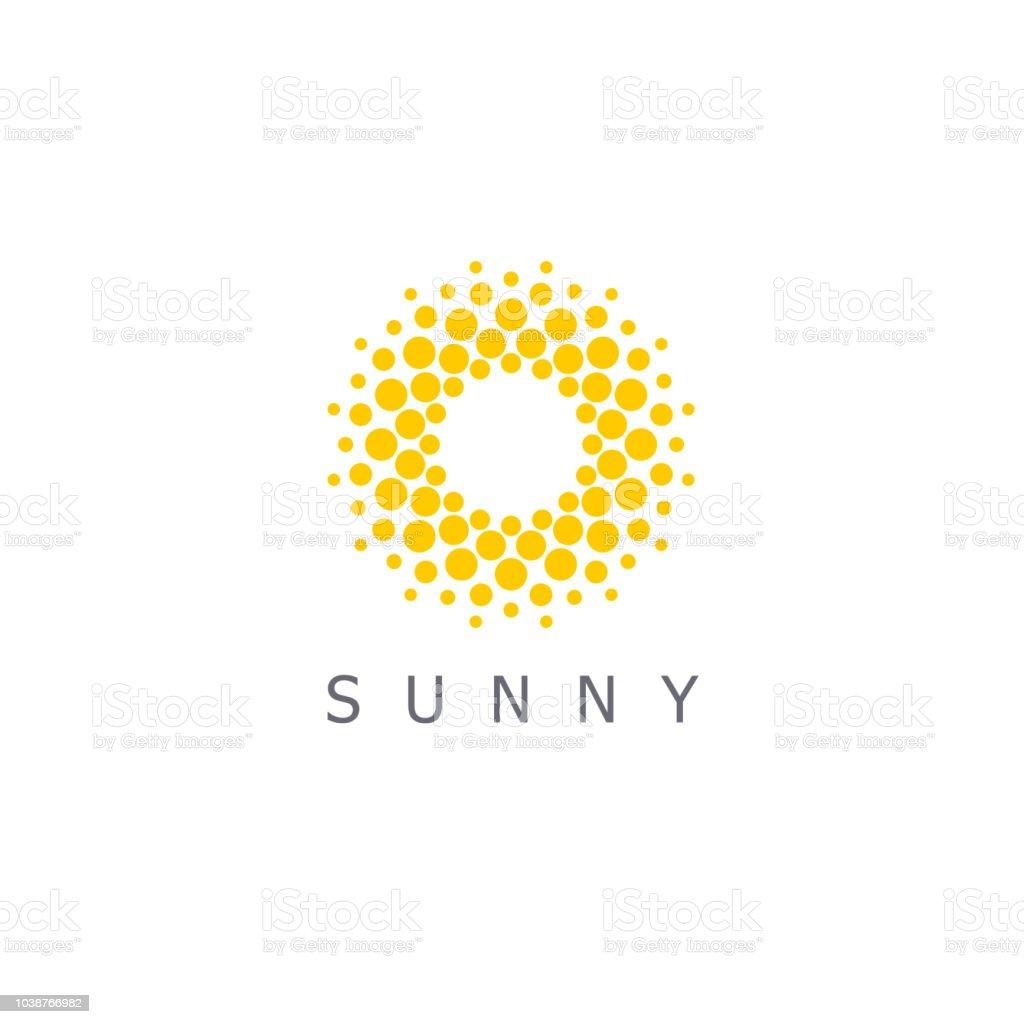 Vector design template. Sun dots icon sign. vector art illustration