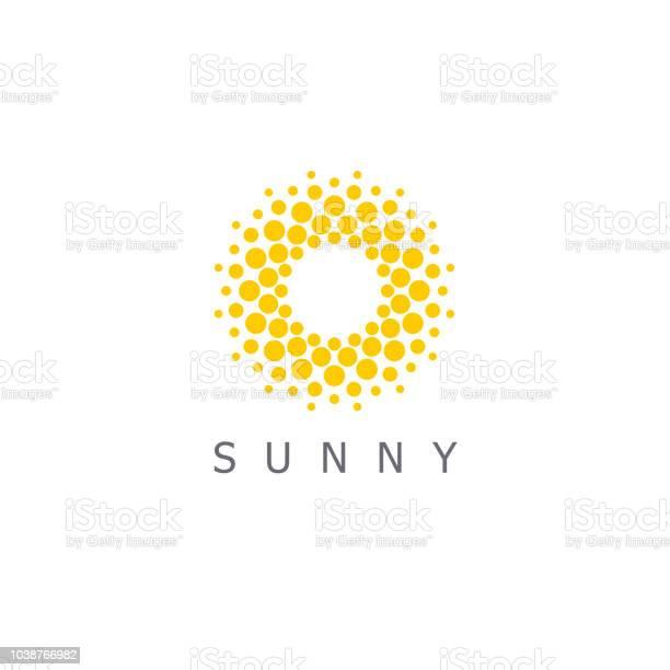 Vetores de Modelo De Design Do Vetor Sol Pontos Sinal Ícone e mais imagens de Abstrato