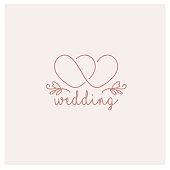 Vector design template. Wedding symbol concept.