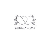 istock Vector design template. Wedding symbol concept. 1038829490