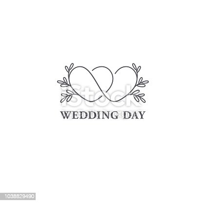 Vector design template. Wedding symbol concept.