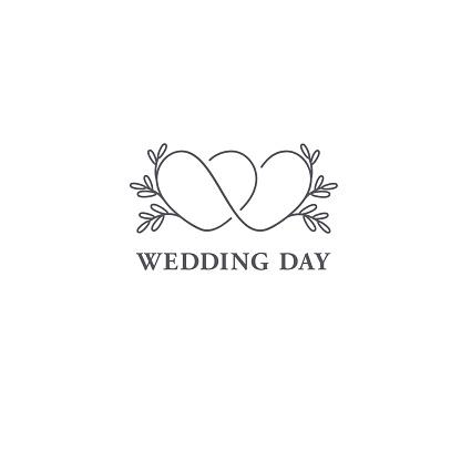 Vector design template. Wedding symbol concept. clipart