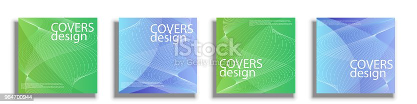 Vector Design Templates For Covers Vector Square Covers Design Stock Vector Art & More Images of Abstract 964700944