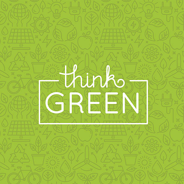 vector design - think green - recycling stock illustrations