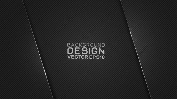 Vector design trendy and technology concept. Dark frame border dimension by carbon fiber texture and copy space on dark background, Abstract futuristic technology template. vector art illustration