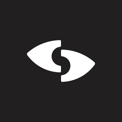 vector design unseen eye symbol
