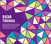 Upcoming trends colorful abstract graphic design with minimal background pattern. This vector template is ready for use in web or print designs.