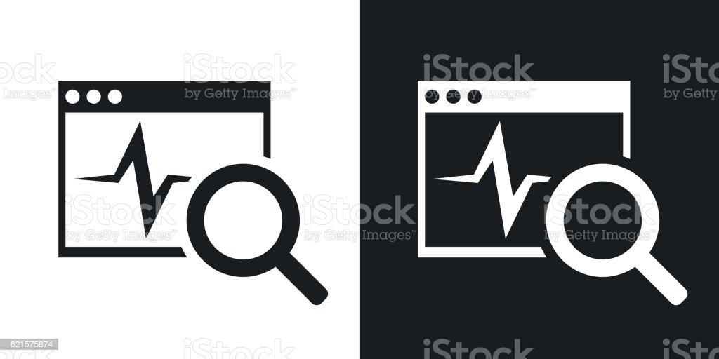 Vector diagnostics software icon. Two-tone version vector diagnostics software icon twotone version – cliparts vectoriels et plus d'images de compte-fil libre de droits