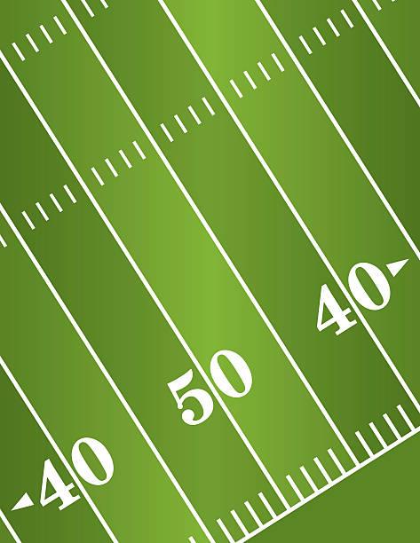 ilustrações de stock, clip art, desenhos animados e ícones de vector diagonal fundo de campo de futebol americano - primeiro down futebol americano