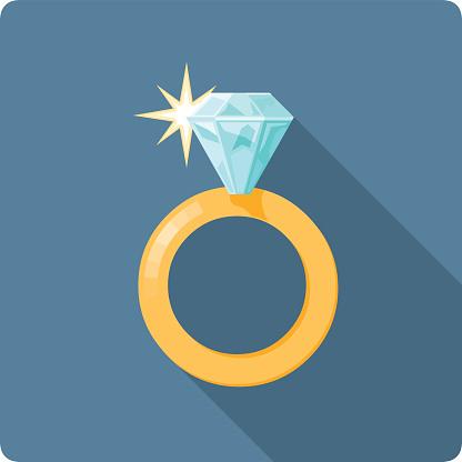 Vector Diamond Ring illustration.