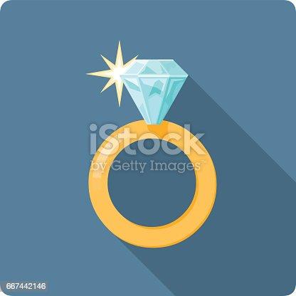 istock Vector Diamond Ring illustration. 667442146