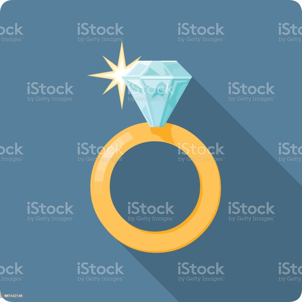 Illustration de vecteur de bague en diamant. - Illustration vectorielle