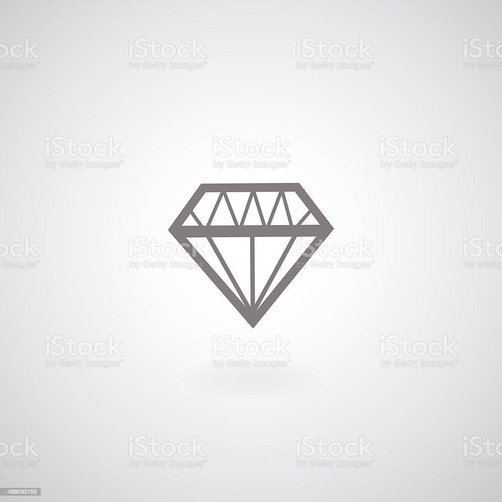 vector diamond symbol vector art illustration
