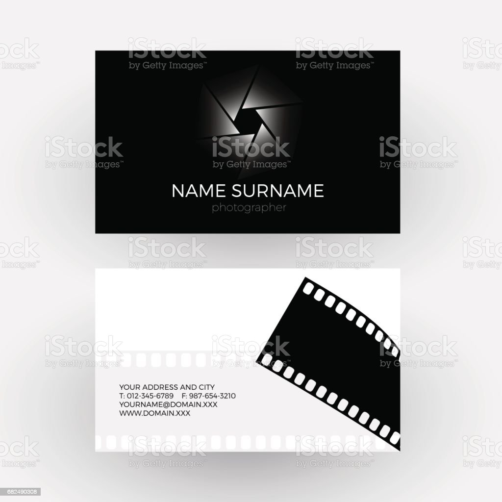 Vector diaphragm and camera roll, concept of photographer. Business card royalty-free vector diaphragm and camera roll concept of photographer business card stock vector art & more images of abstract